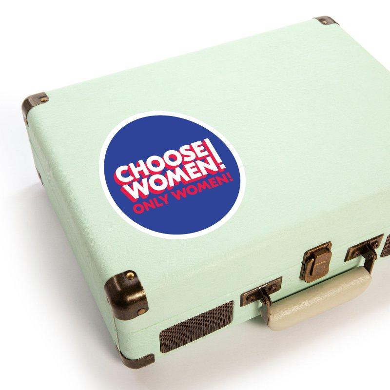 Blue Accessories Sticker by choosewomen's Artist Shop
