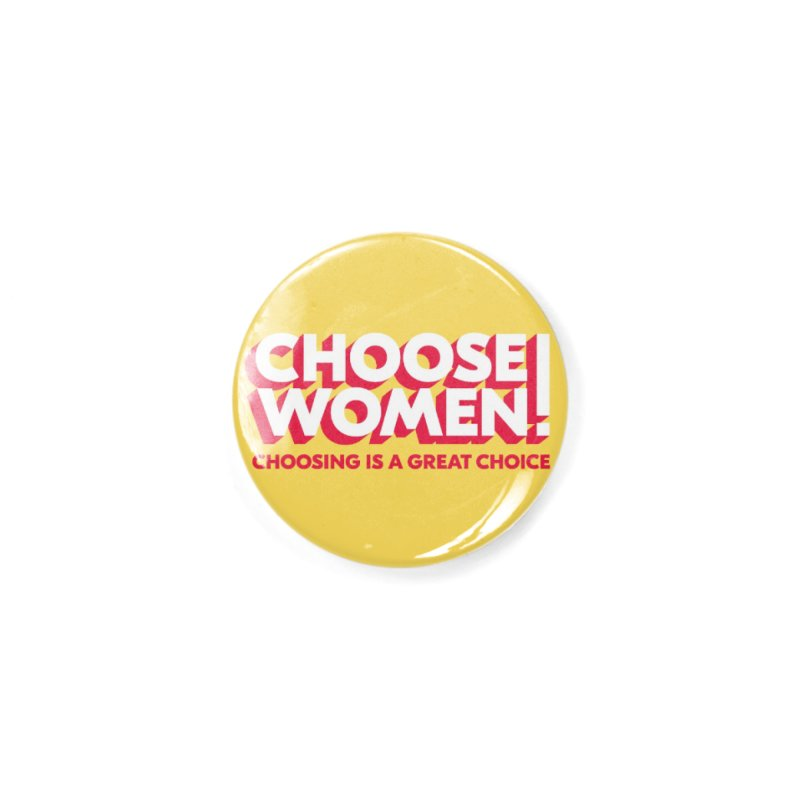Yellow Accessories Button by choosewomen's Artist Shop