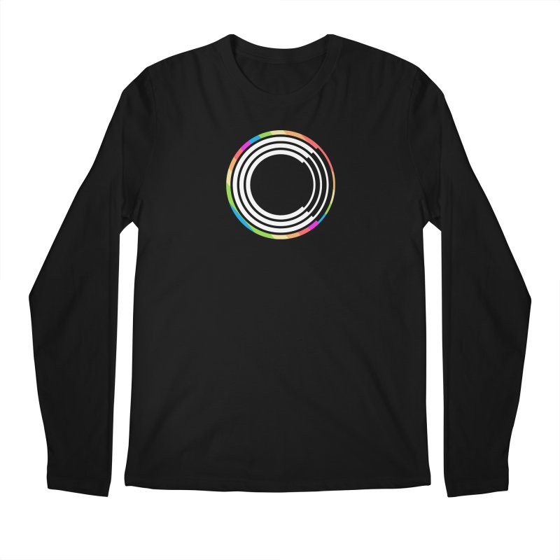 Chorus.fm Pride Logo in Men's Regular Longsleeve T-Shirt Black by Chorus.fm Shop