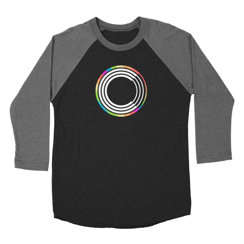 Chorus.fm Pride Logo in Women's Baseball Triblend Longsleeve T-Shirt Grey Triblend Sleeves by Chorus.fm Shop