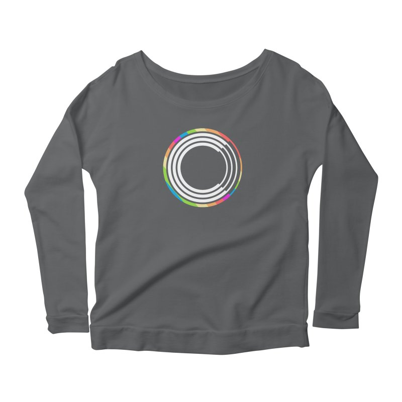Chorus.fm Pride Logo Women's Scoop Neck Longsleeve T-Shirt by Chorus.fm Shop