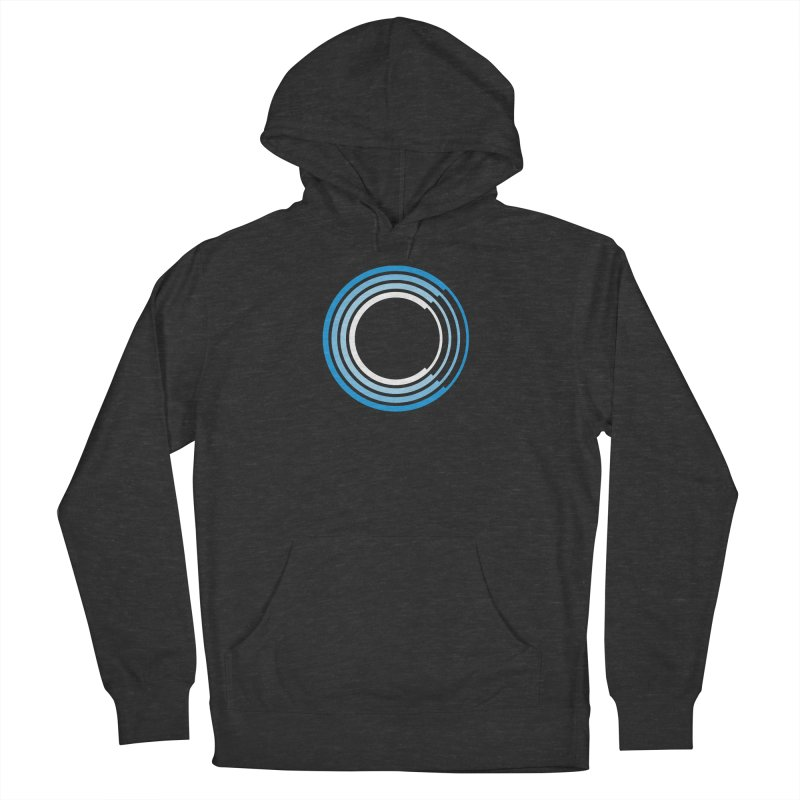Chorus.fm Full Color Logo (Centered) in Women's French Terry Pullover Hoody Smoke by Chorus.fm Shop