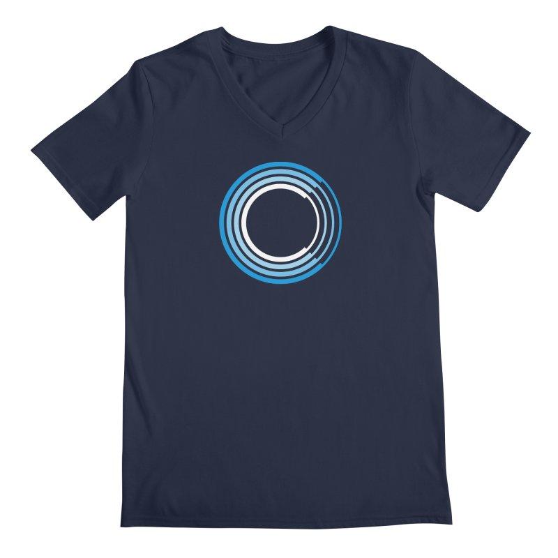 Chorus.fm Full Color Logo (Centered) Men's Regular V-Neck by Chorus.fm Shop