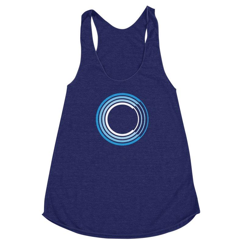 Chorus.fm Full Color Logo (Centered) Women's Racerback Triblend Tank by Chorus.fm Shop