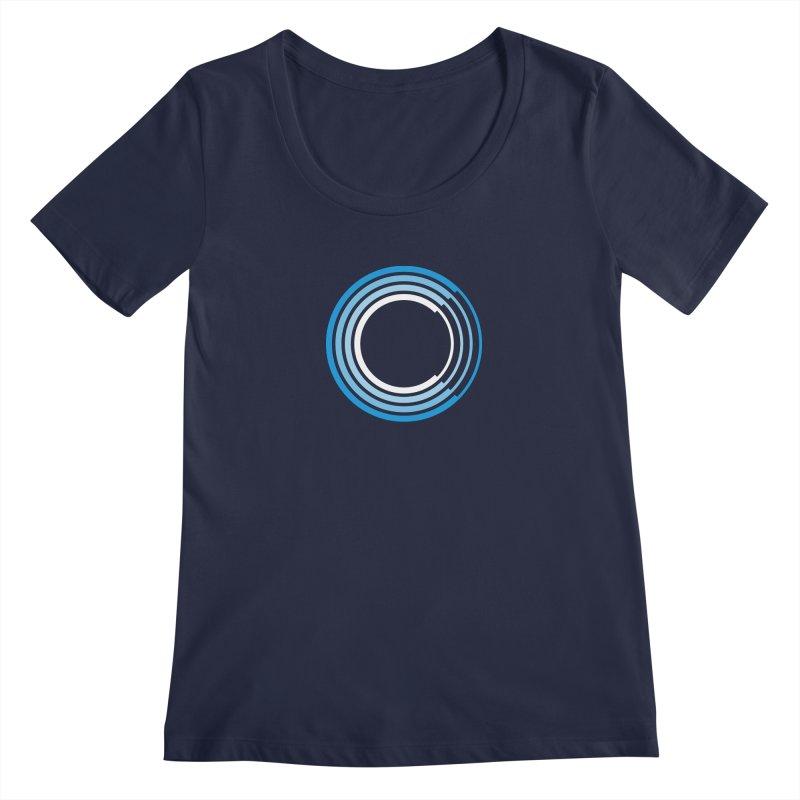 Chorus.fm Full Color Logo (Centered) Women's Regular Scoop Neck by Chorus.fm Shop