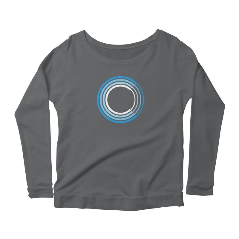 Chorus.fm Full Color Logo (Centered) Women's Scoop Neck Longsleeve T-Shirt by Chorus.fm Shop