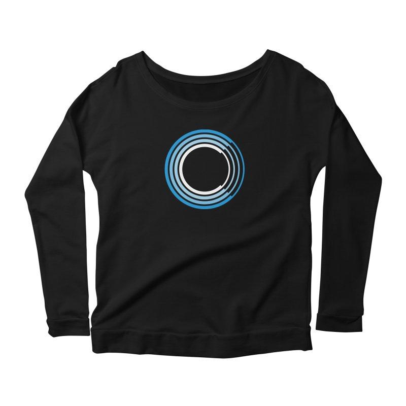 Chorus.fm Full Color Logo (Centered) Women's Scoop Neck Longsleeve T-Shirt by Chorus.fm Shop