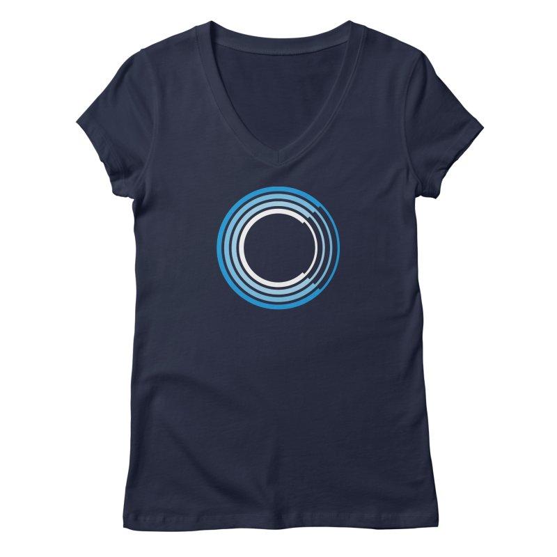 Chorus.fm Full Color Logo (Centered) Women's Regular V-Neck by Chorus.fm Shop