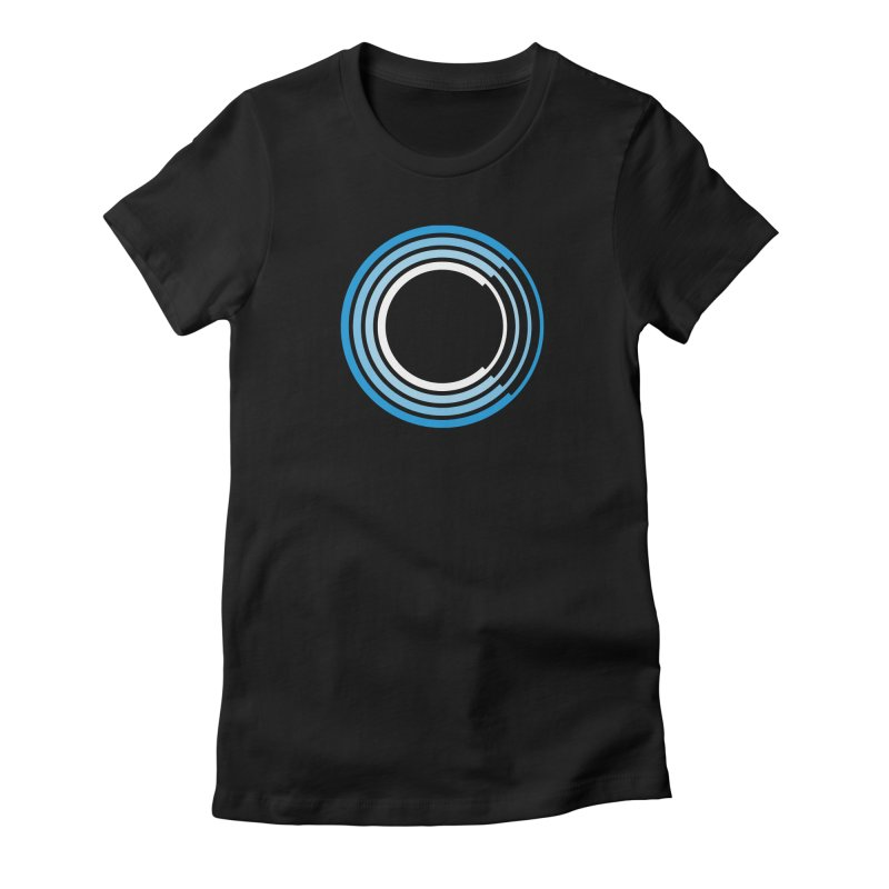 Chorus.fm Full Color Logo (Centered) Women's Fitted T-Shirt by Chorus.fm Shop