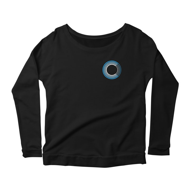 Chorus.fm Full Color Logo (Breast) Women's Scoop Neck Longsleeve T-Shirt by Chorus.fm Shop