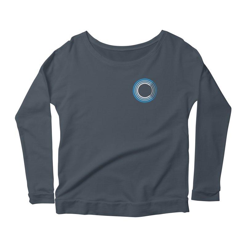Chorus.fm Full Color Logo (Breast) Women's Scoop Neck Longsleeve T-Shirt by Chorus.fm Shop