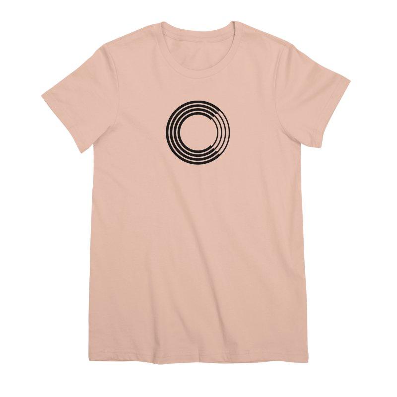 Chorus.fm Black Logo (Centered) Women's Premium T-Shirt by Chorus.fm Shop