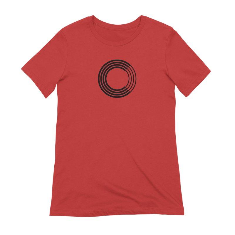 Chorus.fm Black Logo (Centered) Women's Extra Soft T-Shirt by Chorus.fm Shop