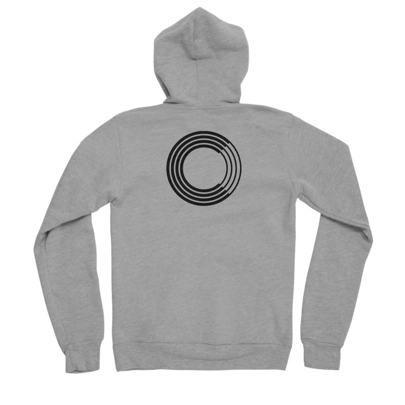 Chorus.fm Black Logo (Centered) Men's Sponge Fleece Zip-Up Hoody by Chorus.fm Shop