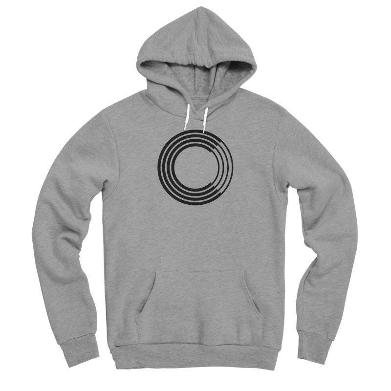 Chorus.fm Black Logo (Centered) Men's Sponge Fleece Pullover Hoody by Chorus.fm Shop