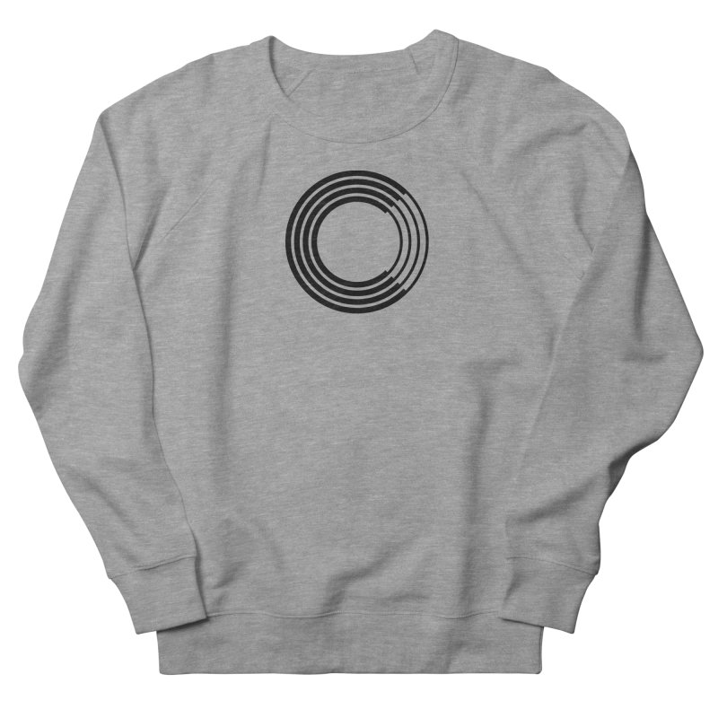 Chorus.fm Black Logo (Centered) in Men's French Terry Sweatshirt Heather Graphite by Chorus.fm Shop