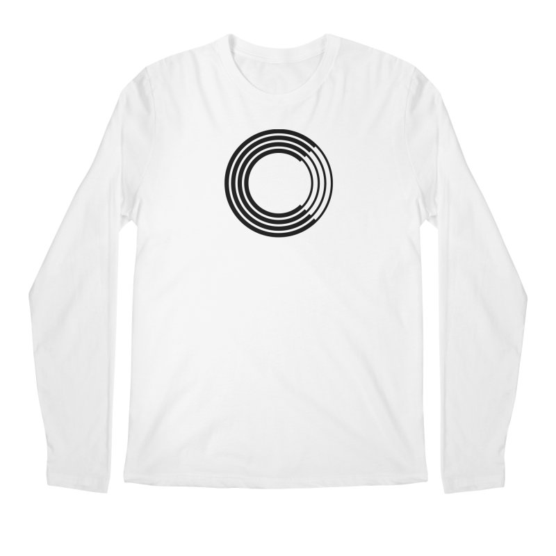 Chorus.fm Black Logo (Centered) Men's Regular Longsleeve T-Shirt by Chorus.fm Shop