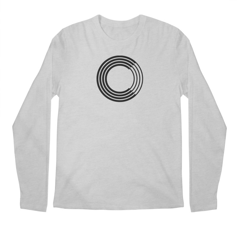 Chorus.fm Black Logo (Centered) Men's Regular Longsleeve T-Shirt by Chorus.fm Shop