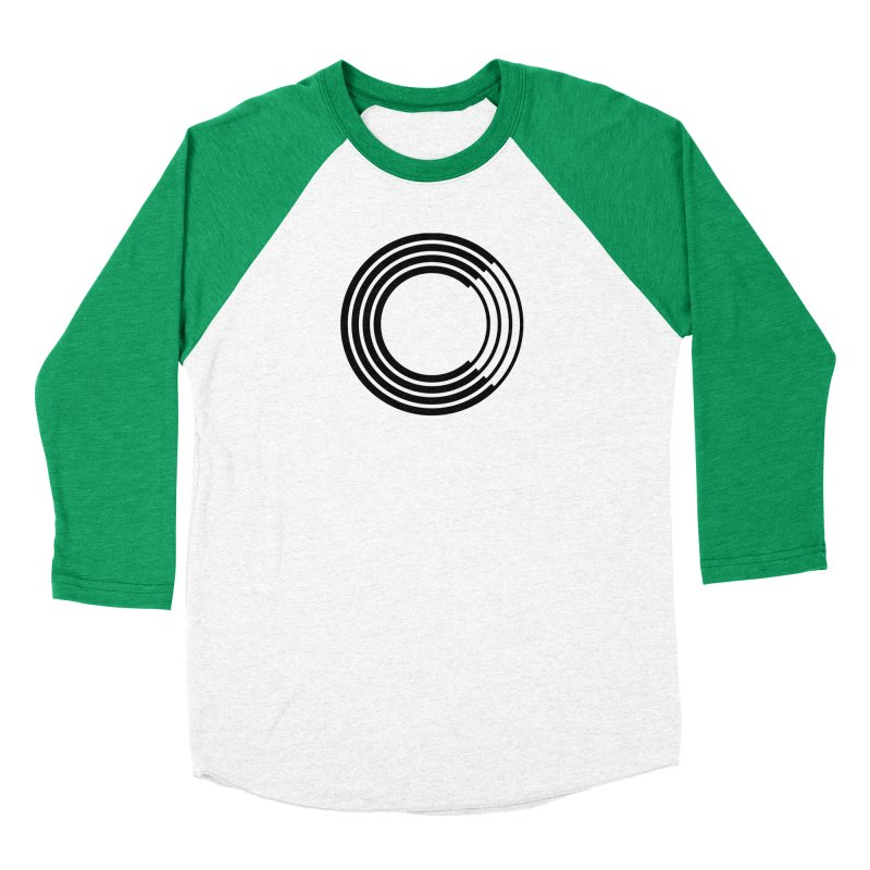 Chorus.fm Black Logo (Centered) Men's Baseball Triblend Longsleeve T-Shirt by Chorus.fm Shop
