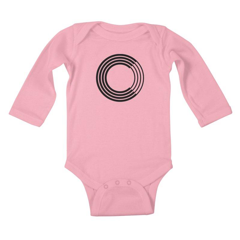 Chorus.fm Black Logo (Centered) Kids Baby Longsleeve Bodysuit by Chorus.fm Shop