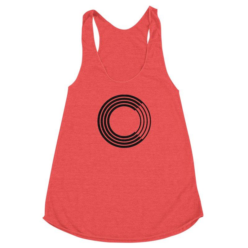 Chorus.fm Black Logo (Centered) Women's Racerback Triblend Tank by Chorus.fm Shop
