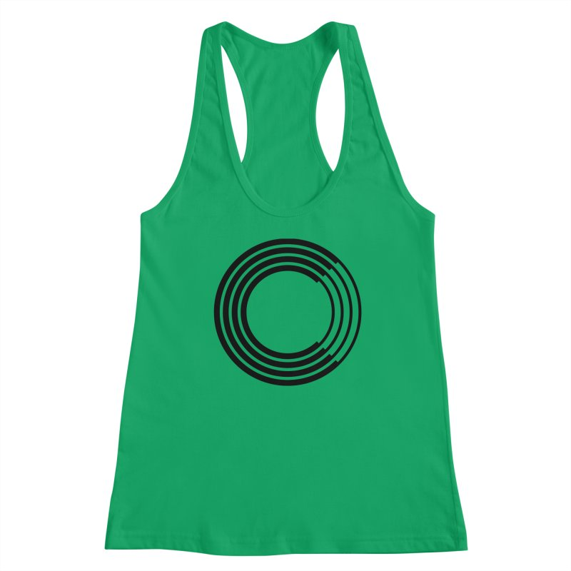 Chorus.fm Black Logo (Centered) Women's Racerback Tank by Chorus.fm Shop
