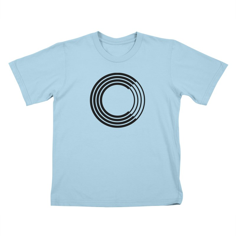 Chorus.fm Black Logo (Centered) Kids T-Shirt by Chorus.fm Shop