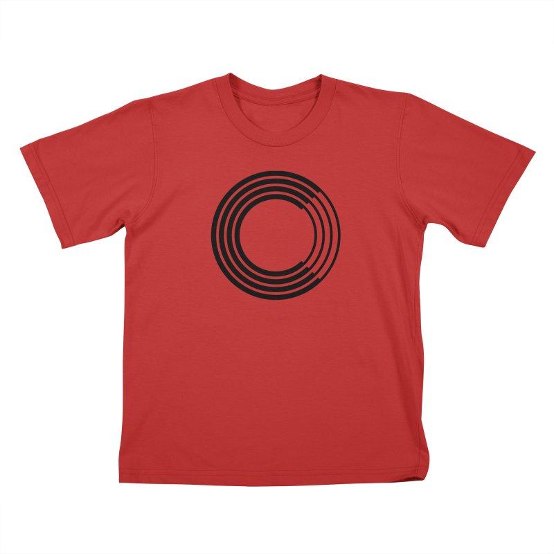 Chorus.fm Black Logo (Centered) Kids T-Shirt by Chorus.fm Shop