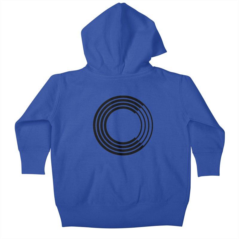 Chorus.fm Black Logo (Centered) Kids Baby Zip-Up Hoody by Chorus.fm Shop