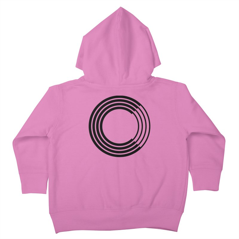 Chorus.fm Black Logo (Centered) Kids Toddler Zip-Up Hoody by Chorus.fm Shop