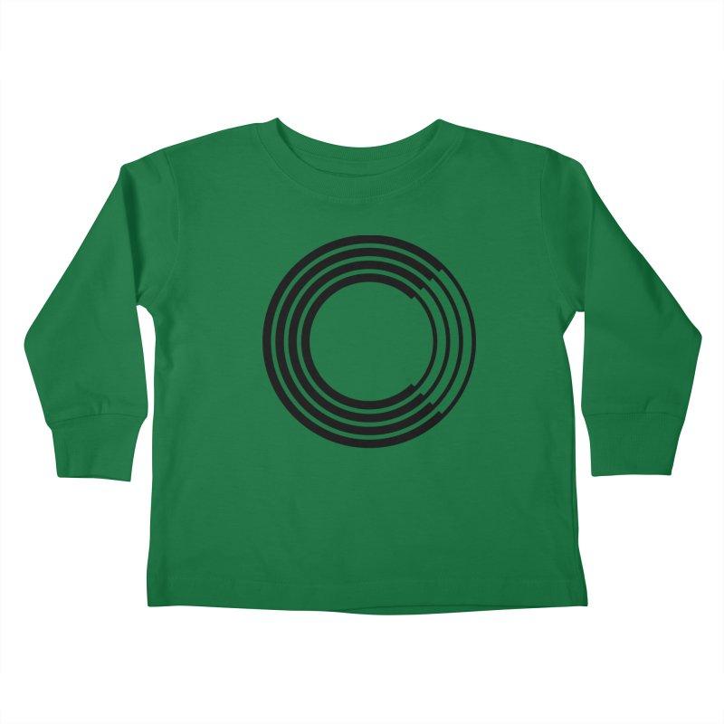 Chorus.fm Black Logo (Centered) Kids Toddler Longsleeve T-Shirt by Chorus.fm Shop