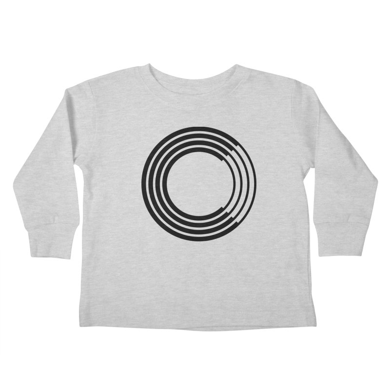 Chorus.fm Black Logo (Centered) Kids Toddler Longsleeve T-Shirt by Chorus.fm Shop