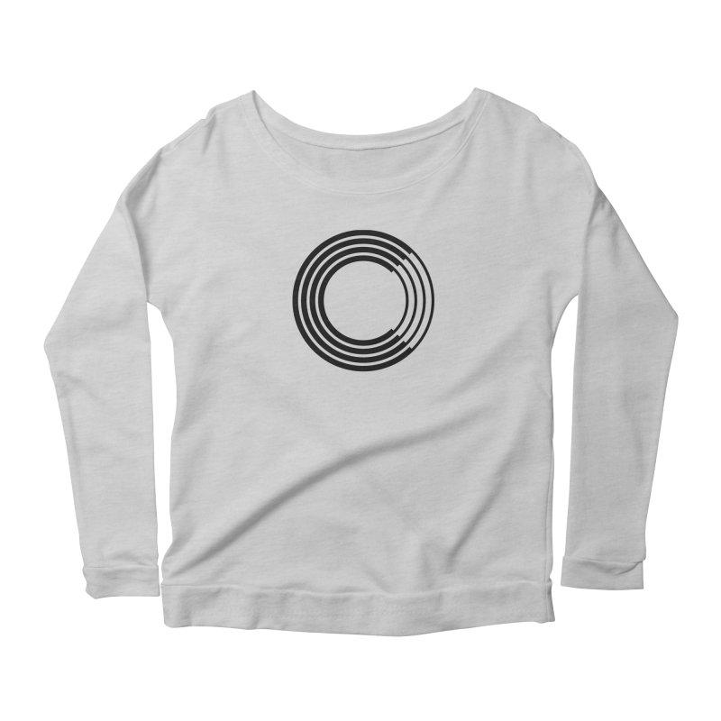 Chorus.fm Black Logo (Centered) Women's Scoop Neck Longsleeve T-Shirt by Chorus.fm Shop
