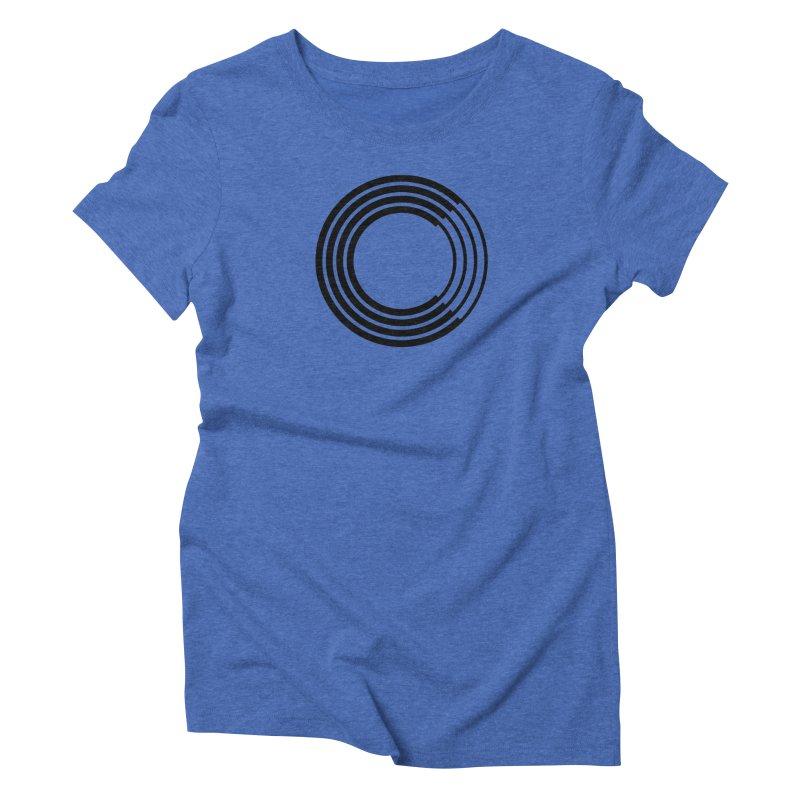 Chorus.fm Black Logo (Centered) Women's Triblend T-Shirt by Chorus.fm Shop