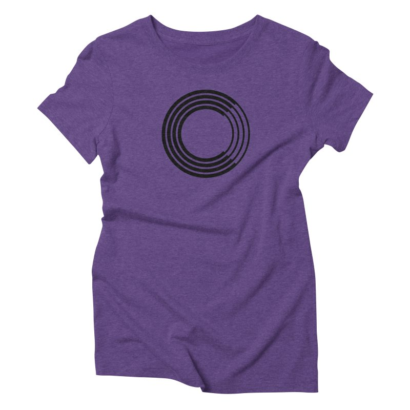Chorus.fm Black Logo (Centered) Women's Triblend T-Shirt by Chorus.fm Shop