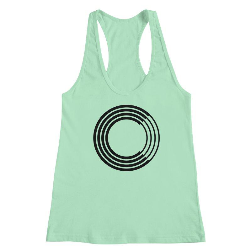 Chorus.fm Black Logo (Centered) Women's Racerback Tank by Chorus.fm Shop