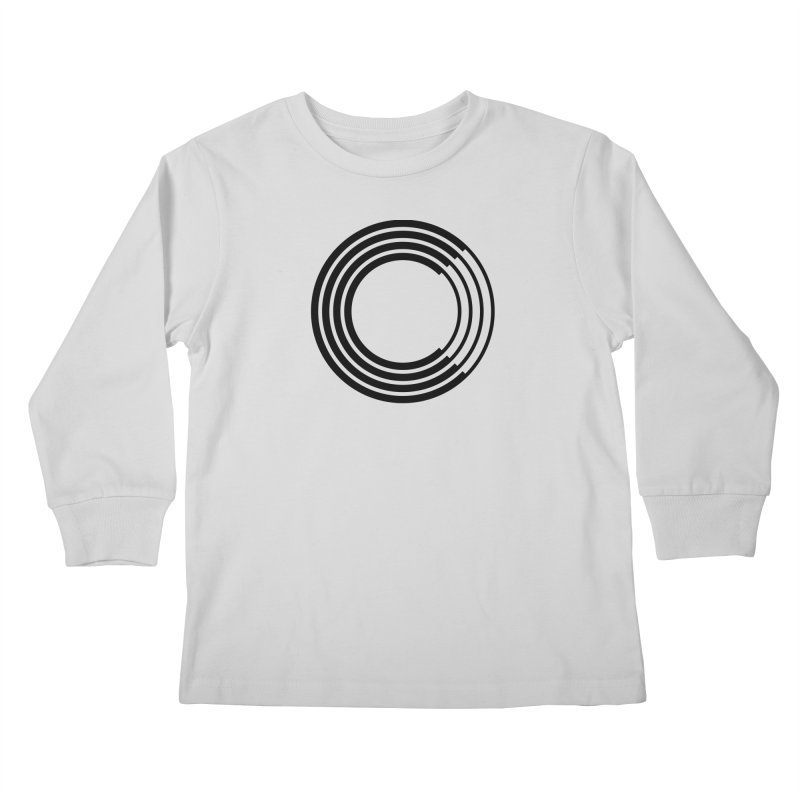 Chorus.fm Black Logo (Centered) Kids Longsleeve T-Shirt by Chorus.fm Shop