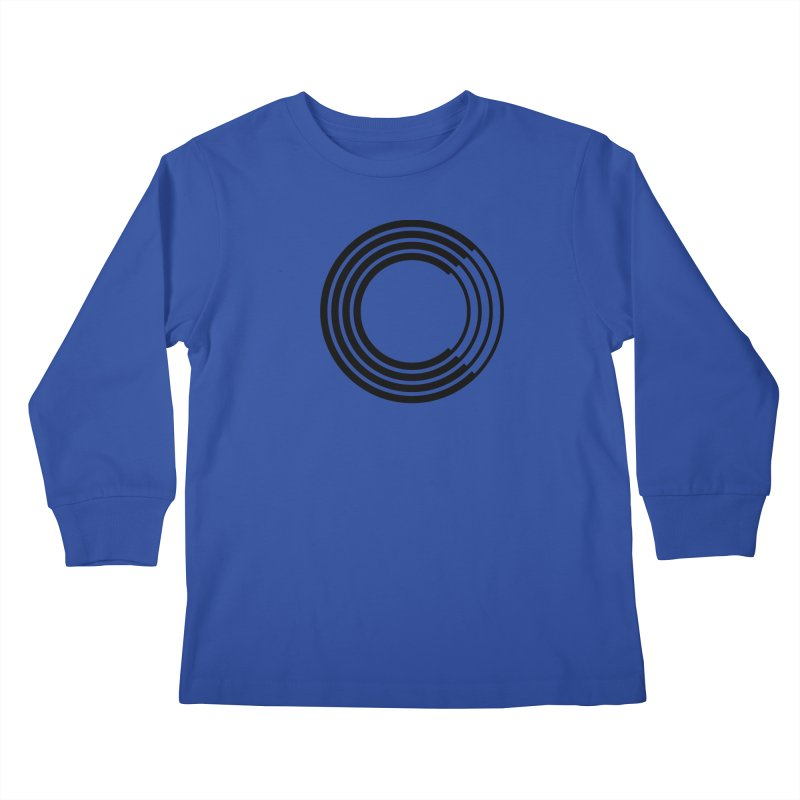 Chorus.fm Black Logo (Centered) Kids Longsleeve T-Shirt by Chorus.fm Shop