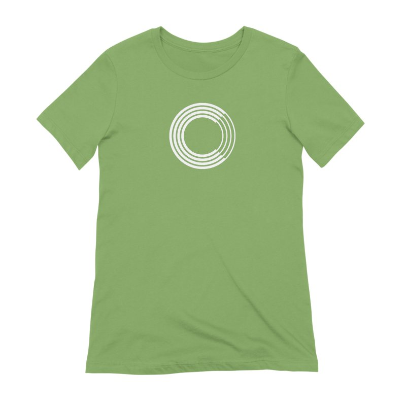 Chorus.fm White Logo (Centered) Women's Extra Soft T-Shirt by Chorus.fm Shop