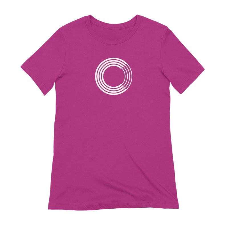 Chorus.fm White Logo (Centered) Women's Extra Soft T-Shirt by Chorus.fm Shop