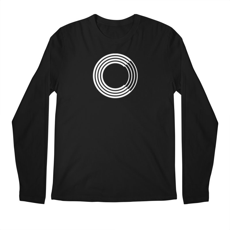 Chorus.fm White Logo (Centered) in Men's Regular Longsleeve T-Shirt Black by Chorus.fm Shop