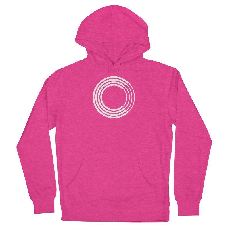Chorus.fm White Logo (Centered) Women's French Terry Pullover Hoody by Chorus.fm Shop