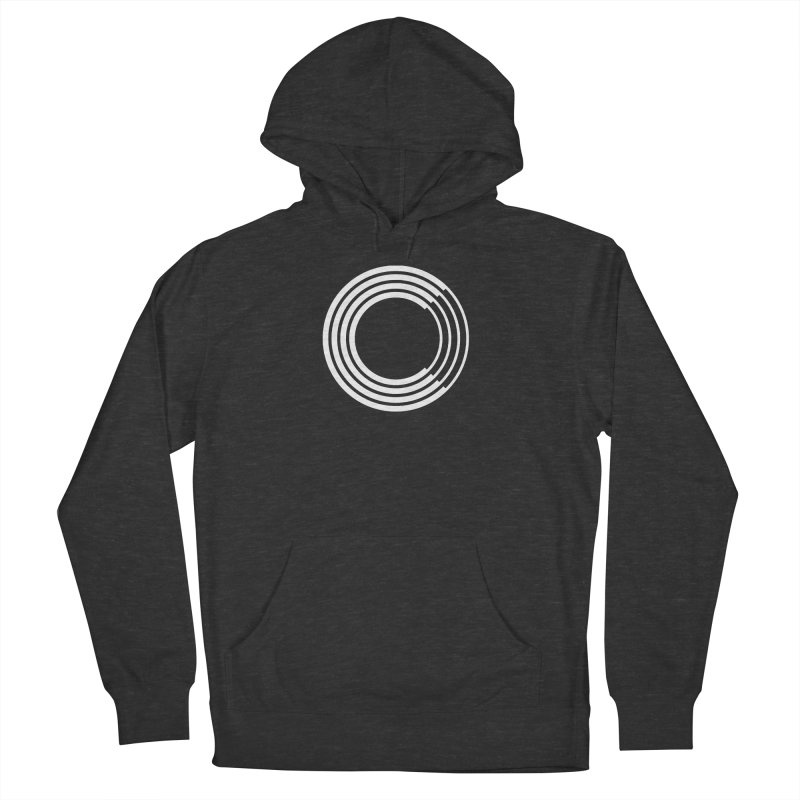 Chorus.fm White Logo (Centered) Men's French Terry Pullover Hoody by Chorus.fm Shop
