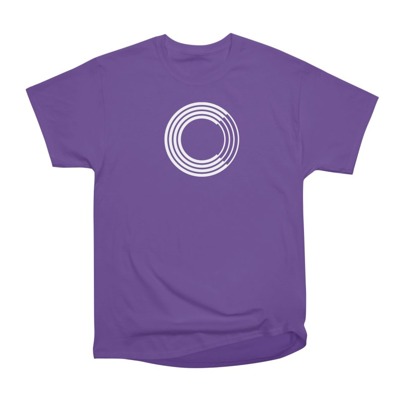Chorus.fm White Logo (Centered) Men's Heavyweight T-Shirt by Chorus.fm Shop