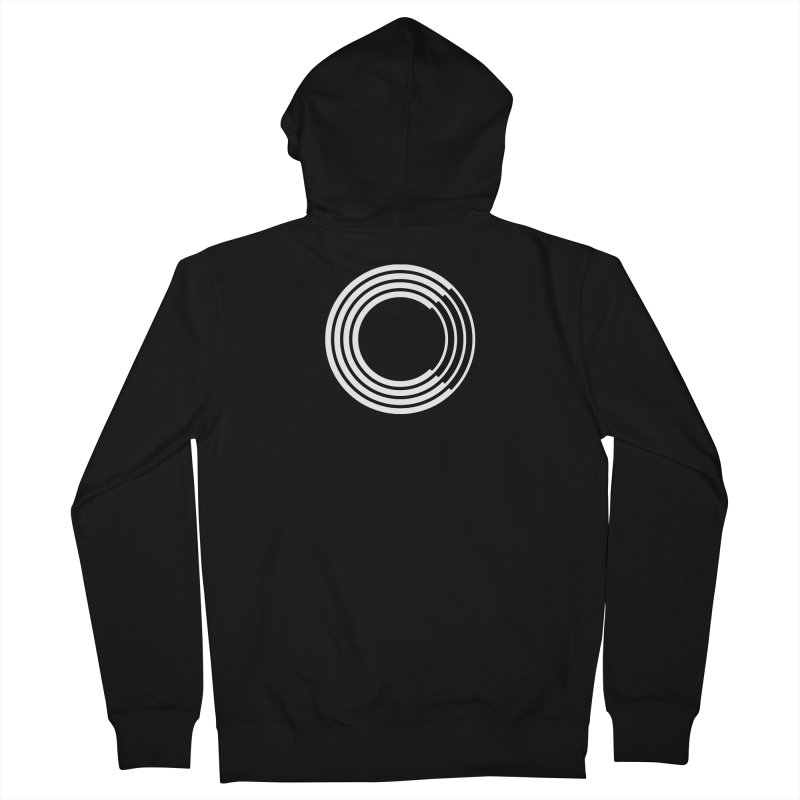 Chorus.fm White Logo (Centered) Men's French Terry Zip-Up Hoody by Chorus.fm Shop