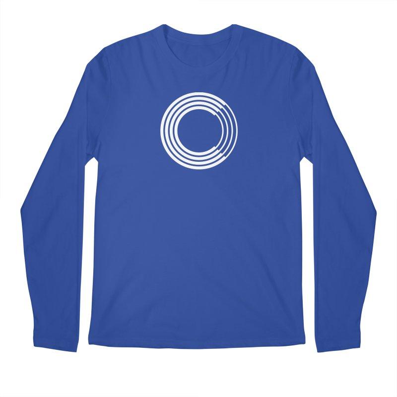 Chorus.fm White Logo (Centered) Men's Regular Longsleeve T-Shirt by Chorus.fm Shop