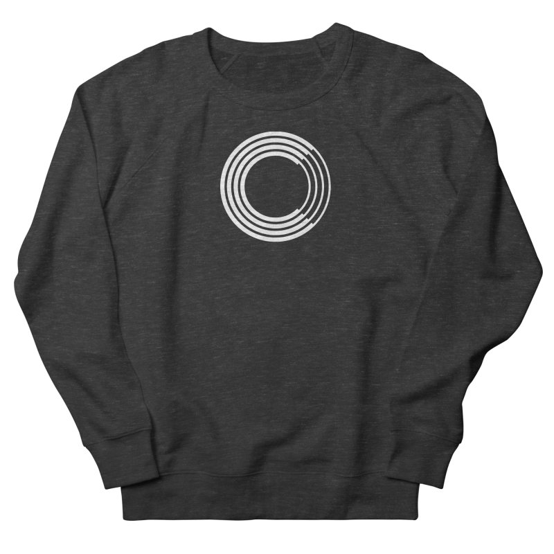 Chorus.fm White Logo (Centered) Men's French Terry Sweatshirt by Chorus.fm Shop