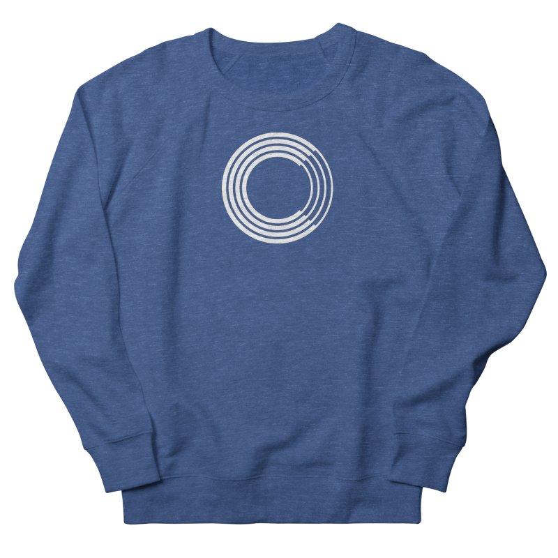 Chorus.fm White Logo (Centered) Men's French Terry Sweatshirt by Chorus.fm Shop