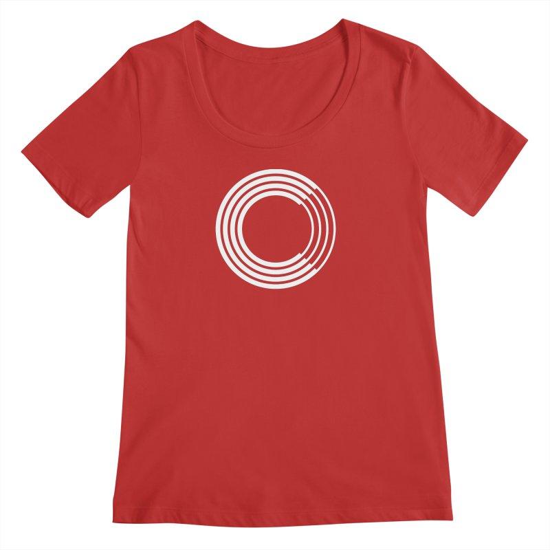 Chorus.fm White Logo (Centered) Women's Regular Scoop Neck by Chorus.fm Shop