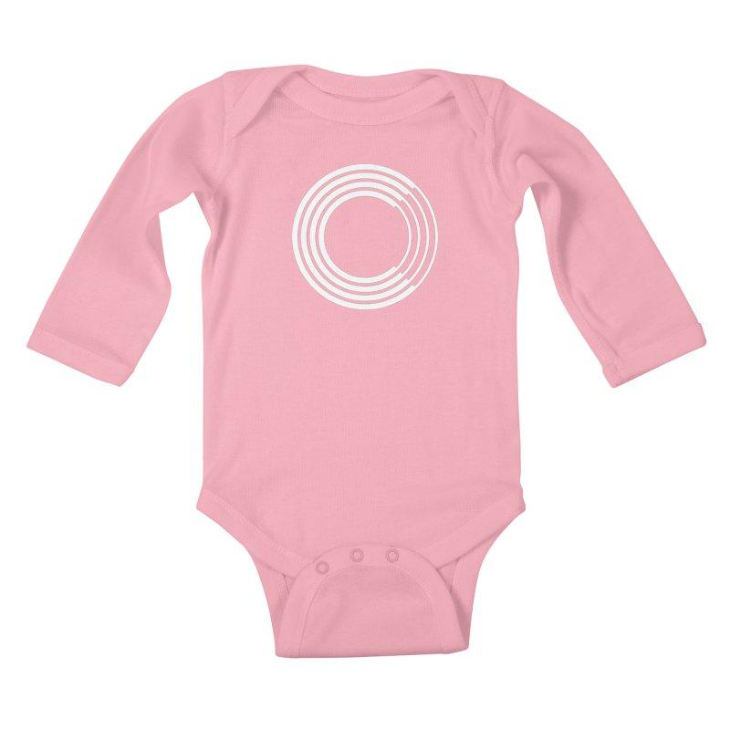 Chorus.fm White Logo (Centered) Kids Baby Longsleeve Bodysuit by Chorus.fm Shop